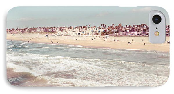 Huntington Beach Retro Panorama Photo IPhone Case