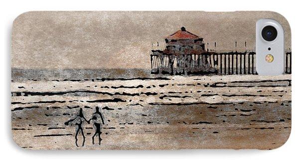 Huntington Beach Surfers IPhone Case