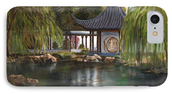 IPhone Case featuring the painting Huntington Chinese Gardens by LaVonne Hand