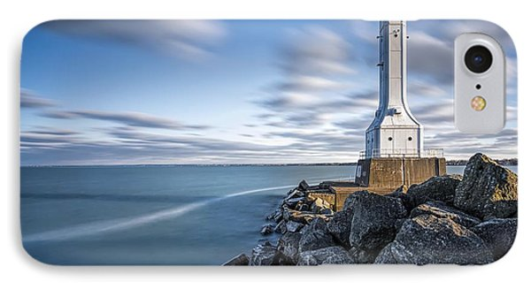Huron Harbor Lighthouse IPhone 7 Case by James Dean