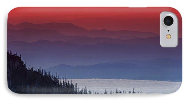Hurricane Ridge Sunset IPhone Case by Mark Kiver