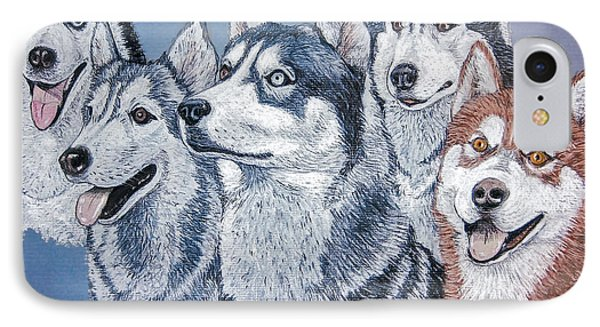 Huskies By J. Belter Garfunkel Phone Case by Sheldon Kralstein