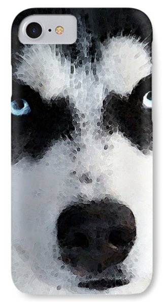 Husky Dog Art - Bat Man IPhone Case by Sharon Cummings