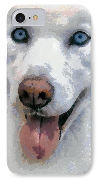IPhone Case featuring the painting Husky by Georgi Dimitrov