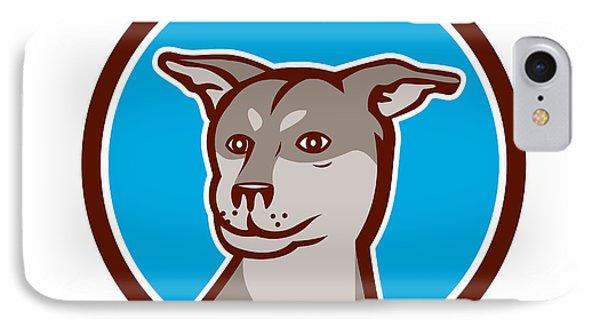 Husky Shar Pei Cross Dog Head Cartoon IPhone Case by Aloysius Patrimonio