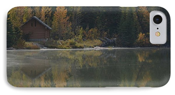 Hut By The Lake IPhone Case by Cheryl Miller