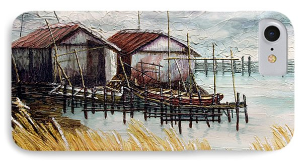 Huts By The Shore IPhone Case by Joey Agbayani