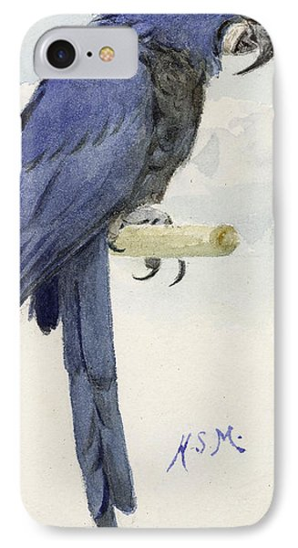 Hyacinth Macaw Phone Case by Henry Stacey Marks