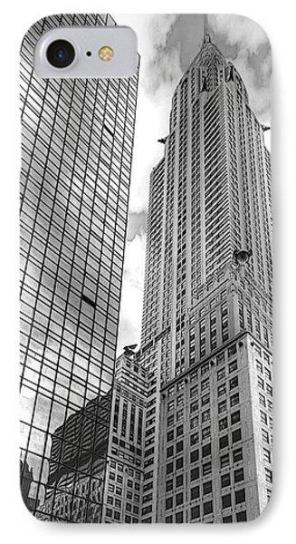 Hyatt And Chrysler Phone Case by David Bearden