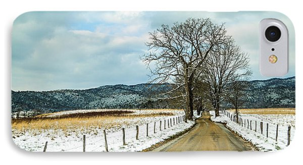 Hyatt Lane In Snow IPhone Case by Debbie Green