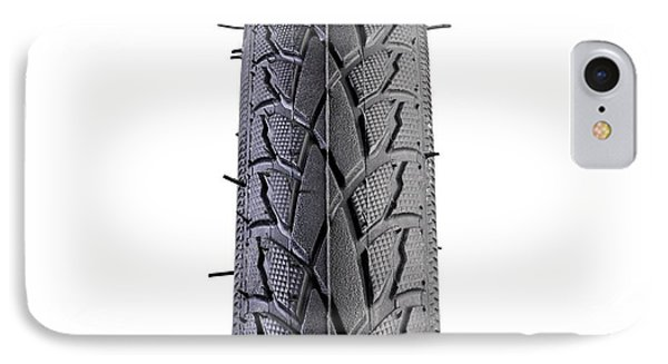 Hybrid Bike Tyre IPhone Case by Science Photo Library