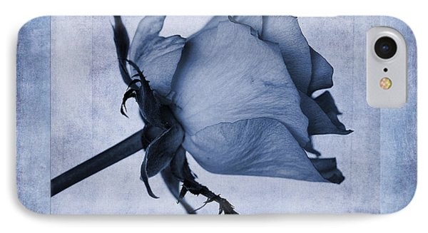 Hybrid Tea Rose Cyanotype IPhone Case by John Edwards
