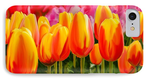 IPhone Case featuring the painting Hybrid Tulips by Tim Gilliland