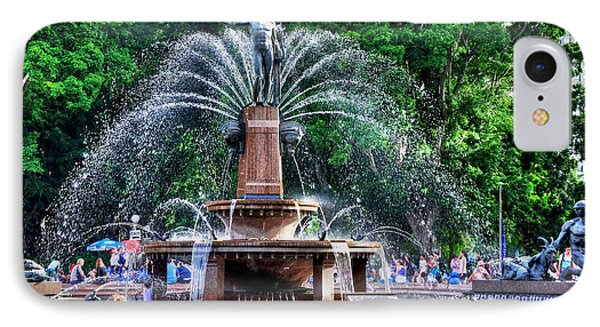 Hyde Park Fountain Phone Case by Kaye Menner