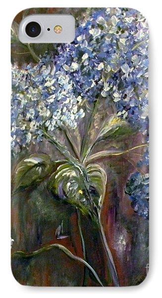 Hydrangea Bouquet At Dawn Phone Case by Eloise Schneider