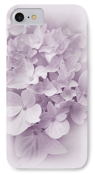 Hydrangea Flowers Violet Pastel Delight IPhone Case by Jennie Marie Schell