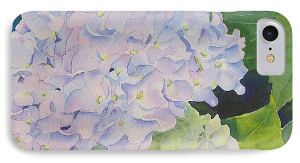 IPhone Case featuring the painting Hydrangea by Judy Mercer