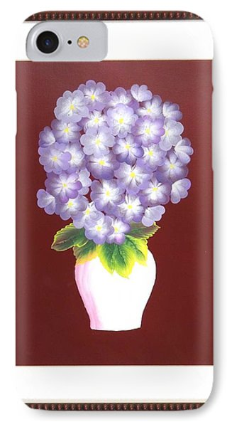 IPhone Case featuring the painting Hydrangea by Ron Davidson