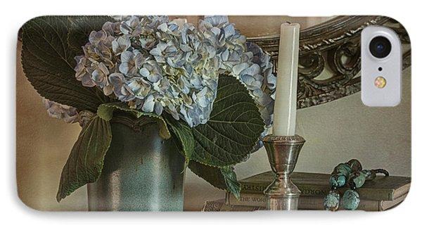 Hydrangea Still-life Phone Case by Terry Rowe