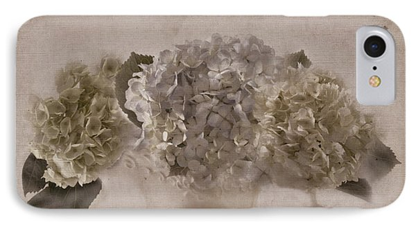 IPhone Case featuring the photograph Hydrangeas In Cream Pitcher by Sandra Foster