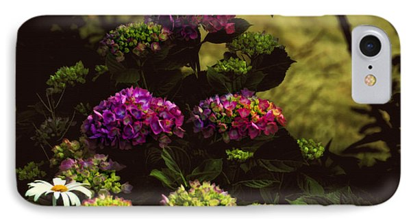 Hydrangeas In The Shade  Phone Case by Elaine Manley