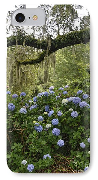 IPhone Case featuring the photograph Hydrangeas In The Village  by Cheryl McClure