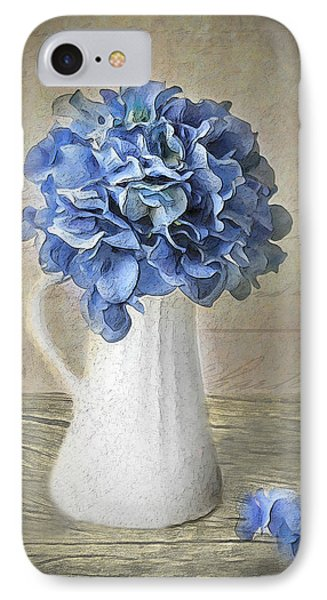 Hydrangeas In Vase IPhone Case by Michael Petrizzo