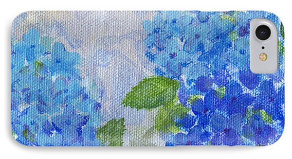 Hydrangeas On A Cloudy Day IPhone Case by Arlissa Vaughn