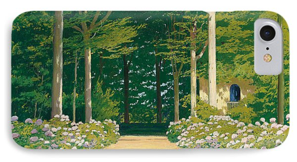 Hydrangeas On A Garden Path IPhone Case by Santiago Rusinol i Prats