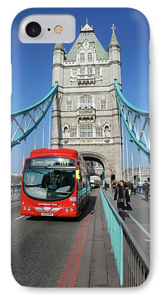Hydrogen Fuel Cell Bus IPhone Case by Martin Bond