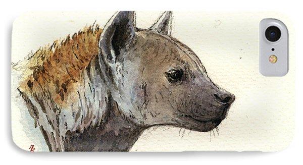 Hyena Head Study IPhone Case by Juan  Bosco