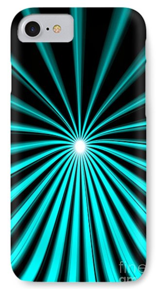 IPhone Case featuring the painting Hyperspace Cyan Portrait by Pet Serrano
