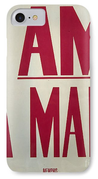 I Am A Man IPhone Case by Baltzgar