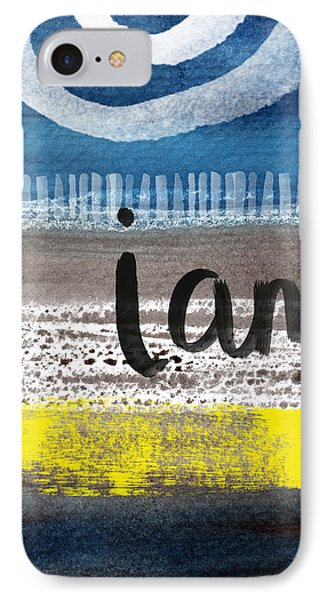 I Am- Abstract Painting IPhone Case by Linda Woods