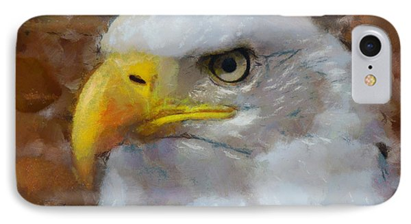 IPhone Case featuring the painting I Am An Eagle by Wayne Pascall