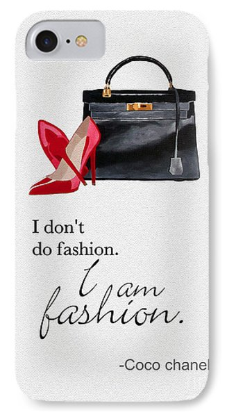 I Am Fashion IPhone Case by Rebecca Jenkins