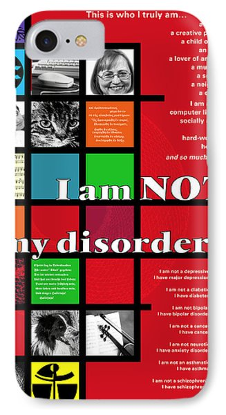 I Am Not My Disorder IPhone Case
