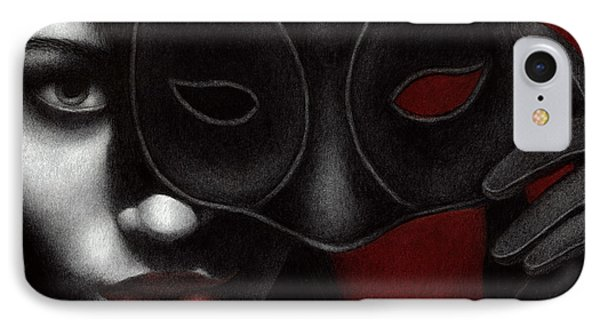 IPhone Case featuring the painting I Am Only What I Allow You To See by Pat Erickson