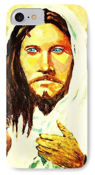 IPhone Case featuring the painting I Am The Way... by Al Brown