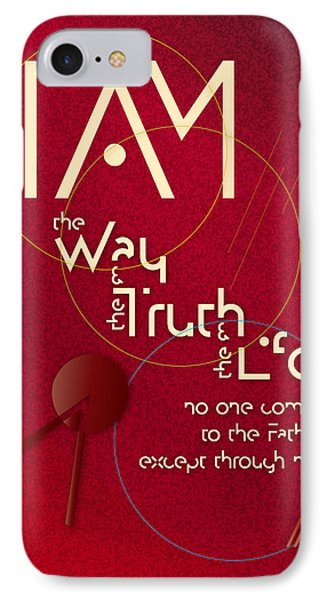 IPhone Case featuring the digital art I Am The Way by Chuck Mountain
