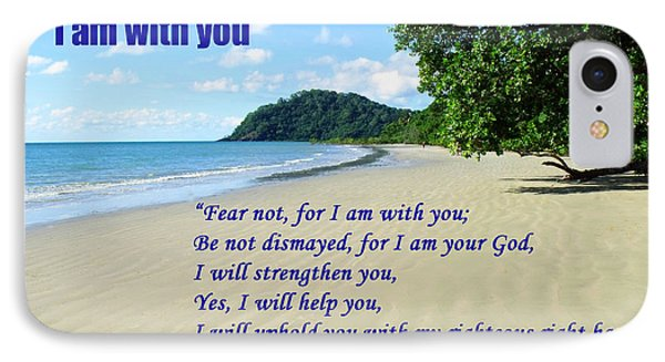 I Am With You Beach Scene IPhone Case