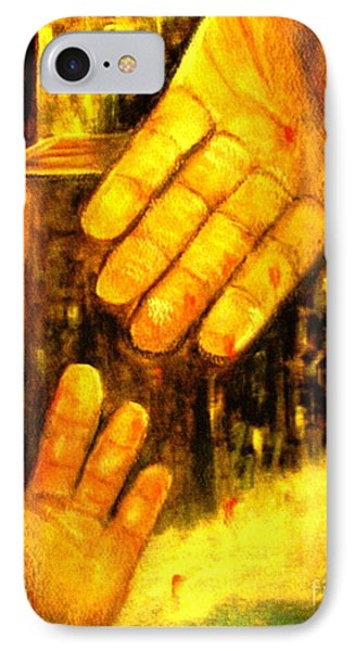 IPhone Case featuring the painting I Chose You by Hazel Holland