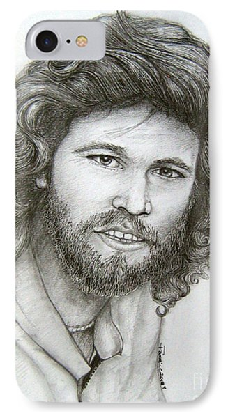 IPhone Case featuring the drawing Barry Gibb by Patrice Torrillo