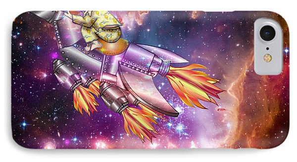 IPhone Case featuring the digital art I Dream Of Rockethorse by Laura Brightwood
