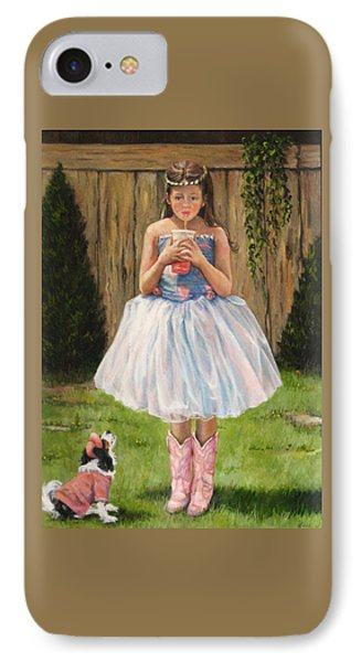 IPhone Case featuring the painting I Dressed Myself by Donna Tucker