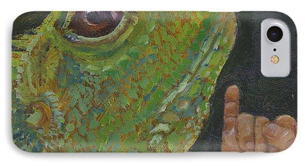 I Is For Iguana IPhone Case by Jessmyne Stephenson