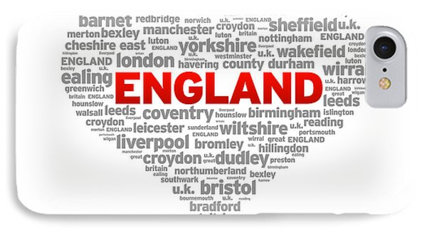 I Love England IPhone Case