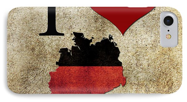 I Love Germany IPhone Case by Gina Dsgn