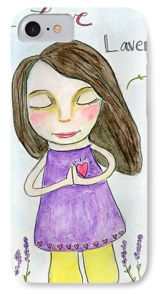 I Love Lavender IPhone Case
