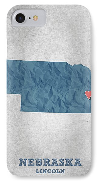 I Love Lincoln Nebraska - Blue IPhone Case
